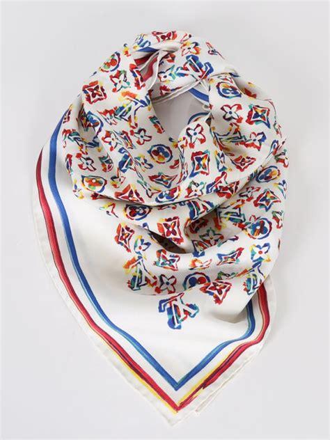 colorful louis vuitton louis vuitton rainbow colorful monogram silk scarf