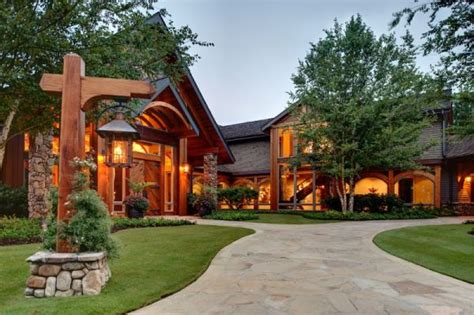 mountain house nestled in the mountains