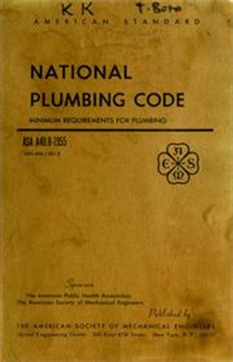 National Standard Plumbing Code 2012 by American Standard National Plumbing Code 1955 Edition