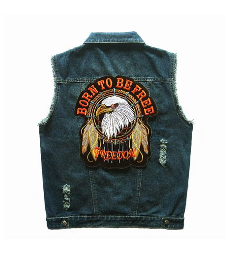 Sleeveless Born To Be Biker popular american eagle vest buy cheap american eagle vest lots from china american eagle