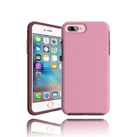 wholesale iphone   hard gummy hybrid case pink
