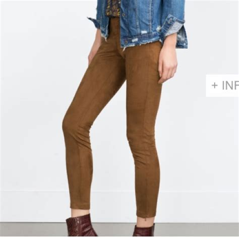 Zara Legging Brown zara host pick faux suede zara nwt from s s