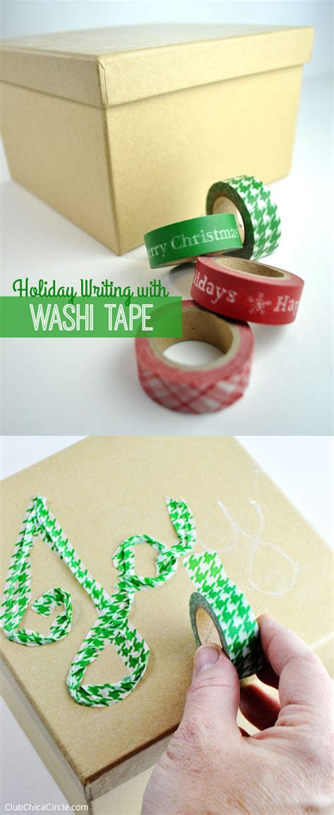 washi tape christmas craft writing with washi