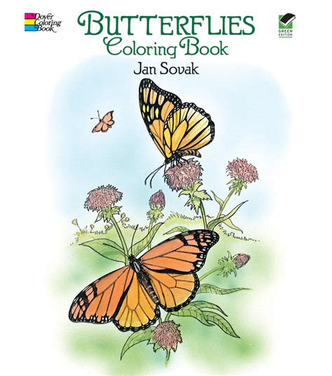 butterfly colors books dover publications butterflies coloring book jo