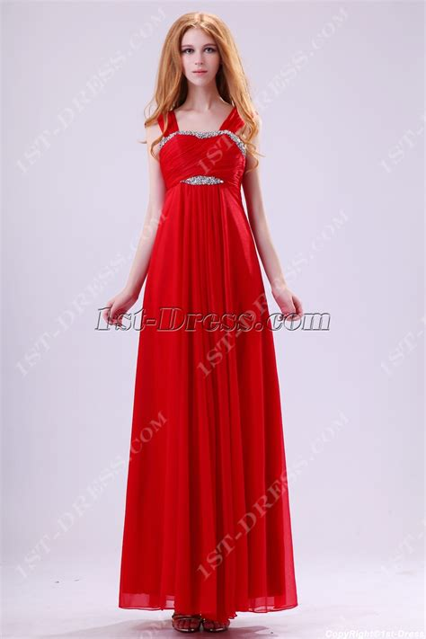 long red promotion dress red straps plus size graduation dresses for 8th grade