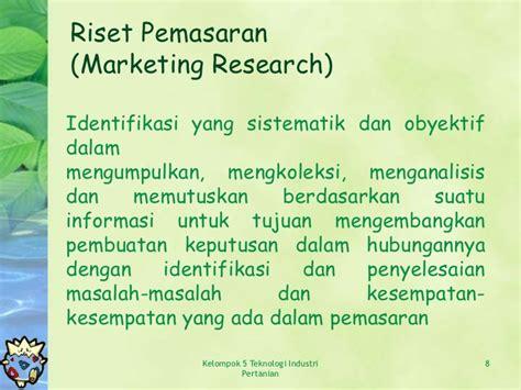 Riset Pemasaran Dan Konsumen riset pasar dan pemasaran
