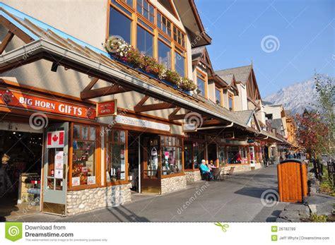stores in alberta banff avenue editorial stock image image 26782789