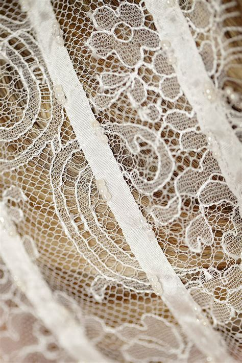beaded chantilly lace ivory beaded chantilly lace hairband by