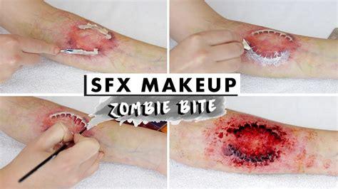 zombie bite makeup tutorial zombie bite sfx makeup tutorial youtube