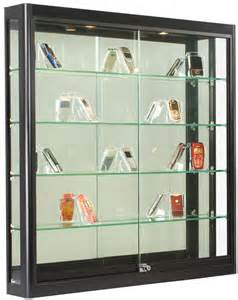 Wall Display Cabinet Glass Door Wall Display Black Finish Ships Fully Assembled