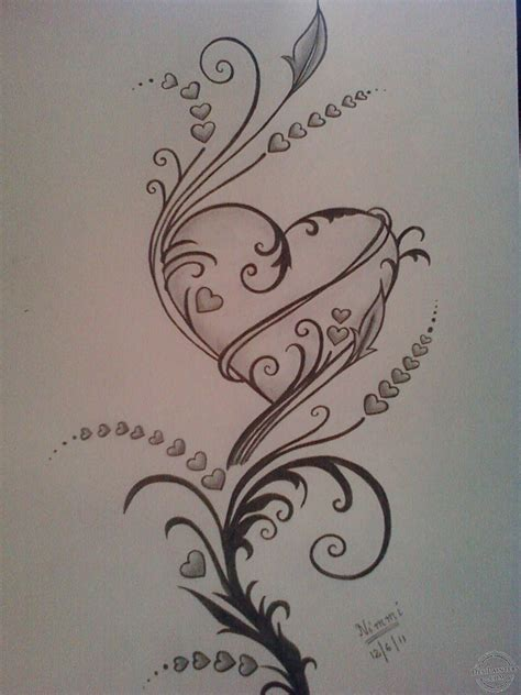 pencil sketch tattoo designs pencil sketches hearts pictures of drawing sketch