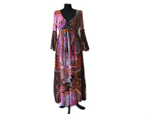 1970 s maxi dress by colin glascoe uk size 10 just