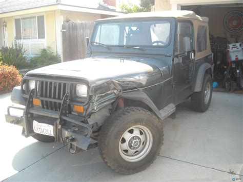 how much is a 1989 jeep wrangler worth wrecked 89 yj with 4 2l