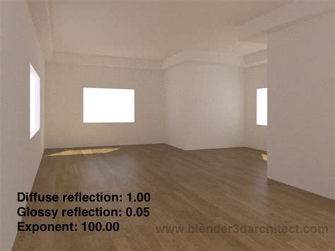 tutorial design interior glossy reflections for laminate wood floors in yafaray for