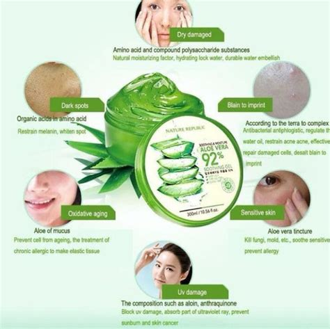 Nature Republic Aloe Vera Soothing Gel For Hair original nature republic aloe vera soothing gel health