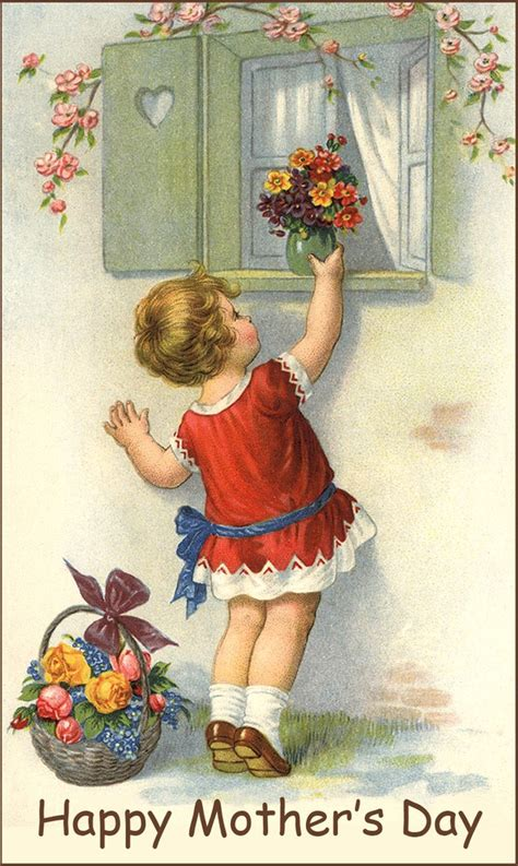 vintage s day vintage mothers day clipart 54
