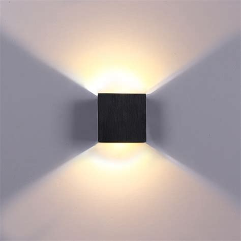 modern 6w led wall light up l sconce spot lighting