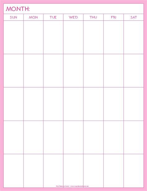 page blank calendar template blank calendar printable my calendar land
