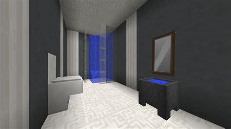 Minecraft Modern Bathroom by Minecraft Modern Bathroom Panes On The Shower Are Light