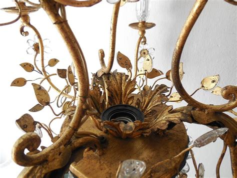 Chandelier Vase by Maison Bagu 232 S Style Flower And Leaves Gold