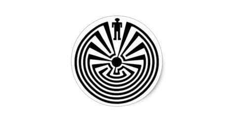Wall Stickers Create Your Own tohono o odham man in the maze collector stickers zazzle