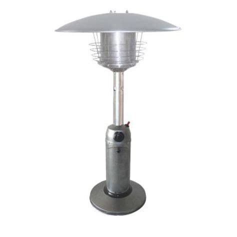 Az Patio Heaters 11 000 Btu Portable Hammered Silver Gas Patio Heaters Home Depot