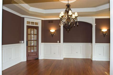 two tone dining room paint interior house painter oswego il yorkville montgomery