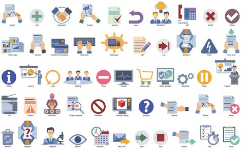 workflow graphics business process flow icon free icons