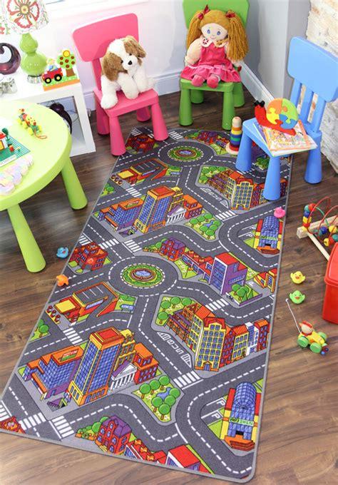 alfombras ninos carretera pueblo jugar   coches calles alfombra ninos ebay