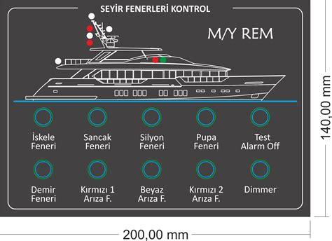 tekne elektrik panosu tekne ve yatların d 252 menevi konsol dizayn ve imalatlarını