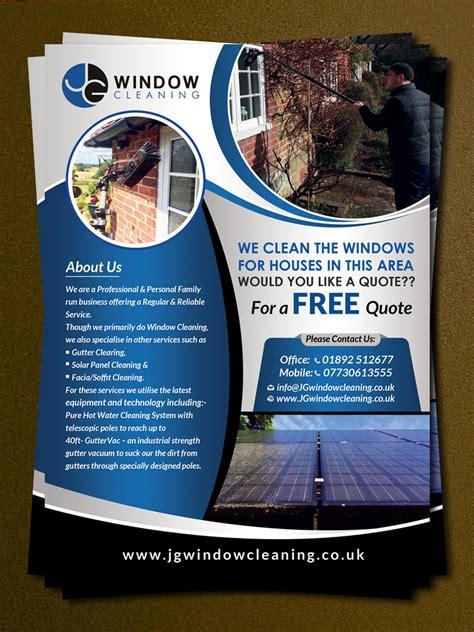 design cleaning flyer modern elegant flyer design for jg window cleaning by