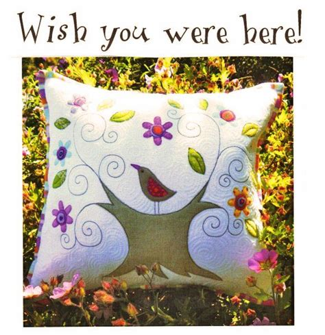 pattern wish you were here another sophie idea wish you were here applique pillow