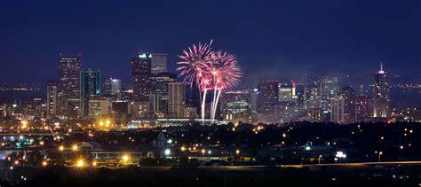 new year colorado denver skyline fireworks