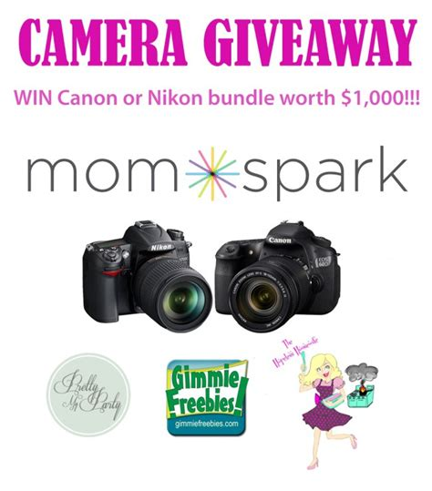 Canon Camera Sweepstakes - win a canon or nikon digital camera bundle giveaway