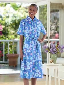 sleeve cotton poly house dress buck buck