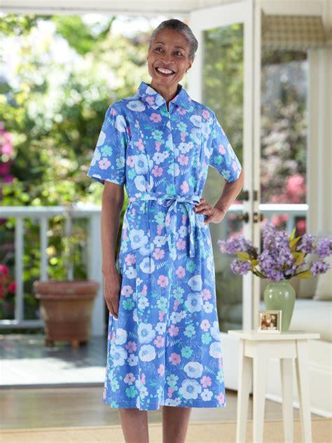 house dresses short sleeve cotton poly house dress buck buck