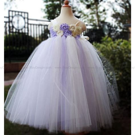 Wedding Dress Anak Tutu Blossom Merah lilac flower dress dresses tutu dress baby dress toddler birthday dress wedding dress
