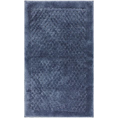 Mohawk Home Bath Rugs Mohawk Home Laguna Blue 20 In X 34 In Bath Rug 301537 The Home Depot