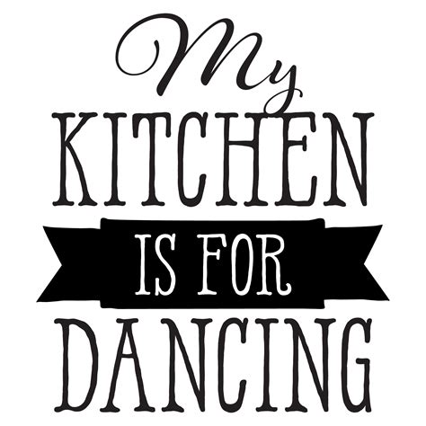 Wall Saying Stickers my kitchen is for dancing wall quotes decal wallquotes com