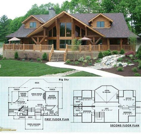 cool free log cabin plans new home plans design