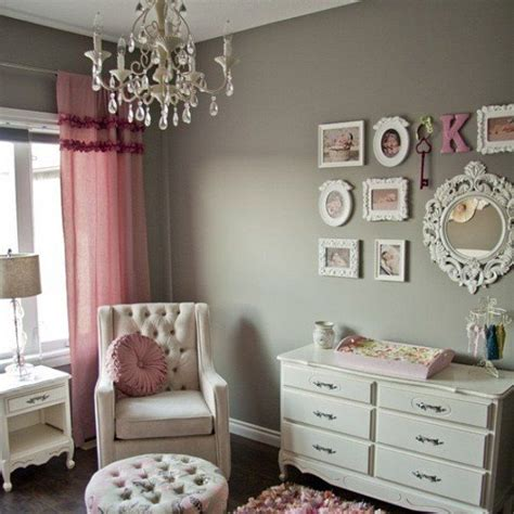 a glamorous gray and pink nursery grey walls pink accents and shades of grey