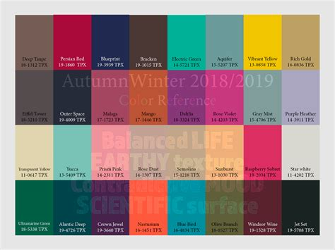trend colors autumn winter 2018 2019 trend forecasting is a trend color guide that offer seasonal inspiration