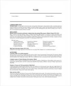 Sample Resume Objectives Pdf by Sample Resume Objective 9 Examples In Pdf Word