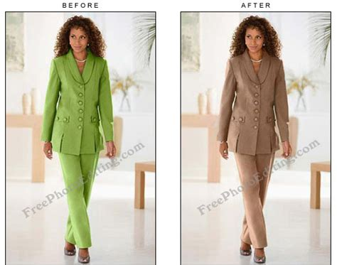 chagne color suit change colour of formal business suit to brown