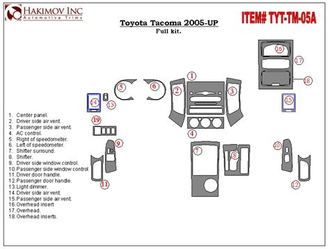 Toyota Interior Parts Toyota Tacoma Interior Parts Autos Post