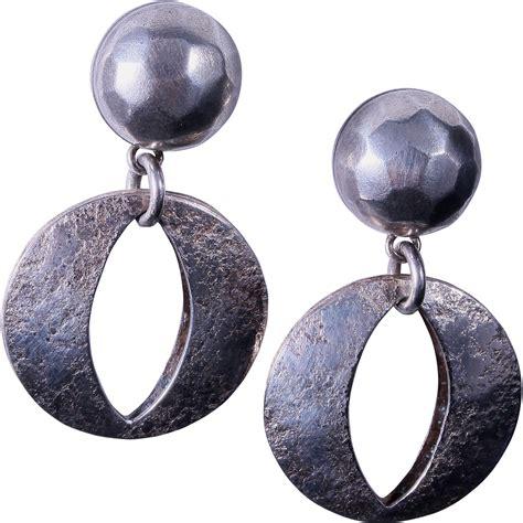 Pierced Metal L by Marjorie Baer Pierced Mixed Metal Hoop Earrings From
