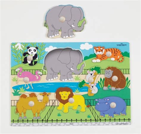 Spesial Knob Puzzle Zoo Animals zoo animals puzzle wooden knob puzzles categories