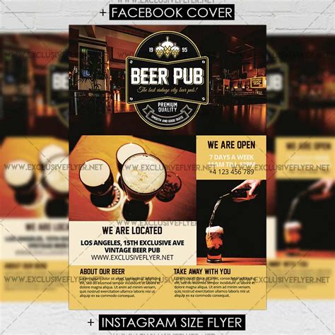 Beer Flyer Template