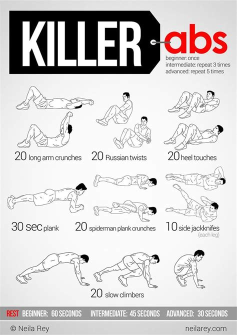 killer abs killer ab workouts and ab workouts on