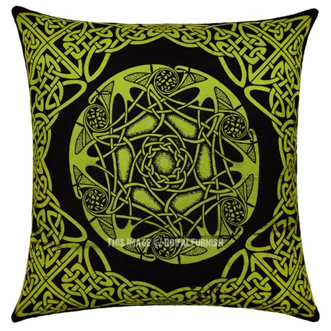 knot pillows green celtic star knot decorative hippie tie dye square